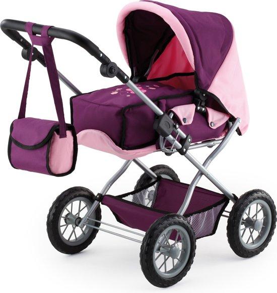 Bayer Poppenwagen met Luiertas - Roze/Paars
