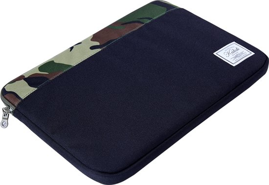 Laptop Tablet Sleeve Tot 11 Inch Zwart Camouflage