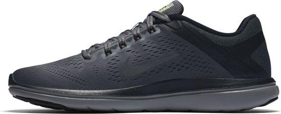 Nike Flex 2016 Run Shield - Hardloopschoenen - Dames - Maat 5,5 - Cool Grey/Mtlc Hematite-Black-Volt