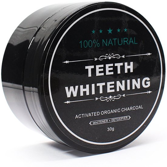 Natural Teeth Whitening - Activated Charcoal 30g.| Tanden bleek Poeder| Stralend witte tanden