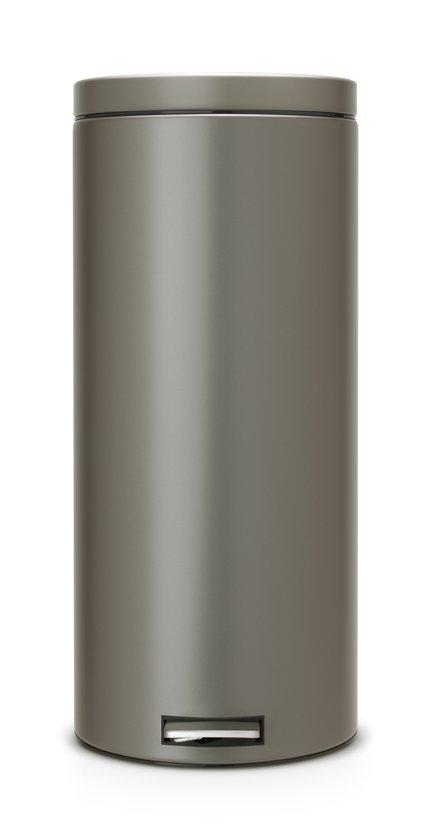 Welp bol.com | Brabantia Classic Prullenbak - 30 l - Platinum LS-84