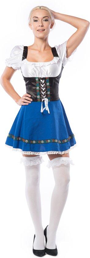 Oktoberfest Jurk Dames    Tiroler jurk Dames    Dirndl Sylvia    Blauw    Maat L