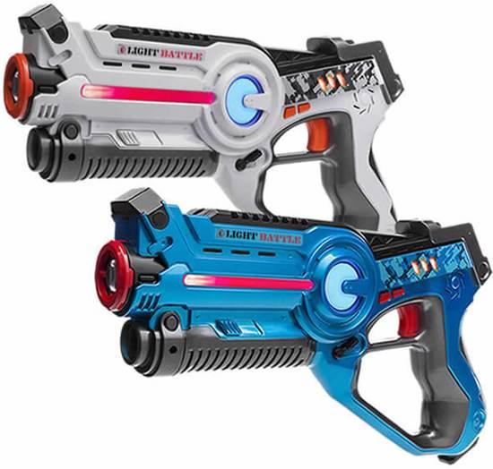 2x Light Battle Active lasergun | Lasergame set – Blauw en Wit