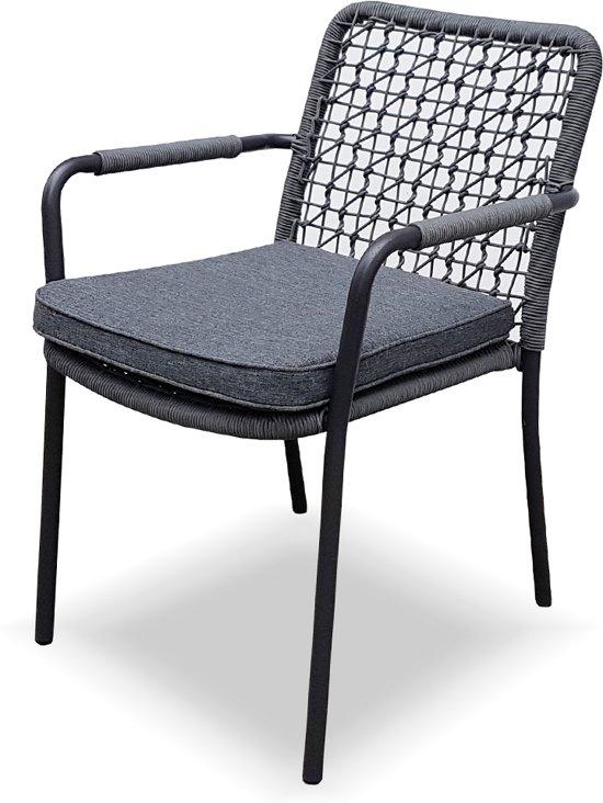 New Rope armstoel grijs inclusief zitkussen