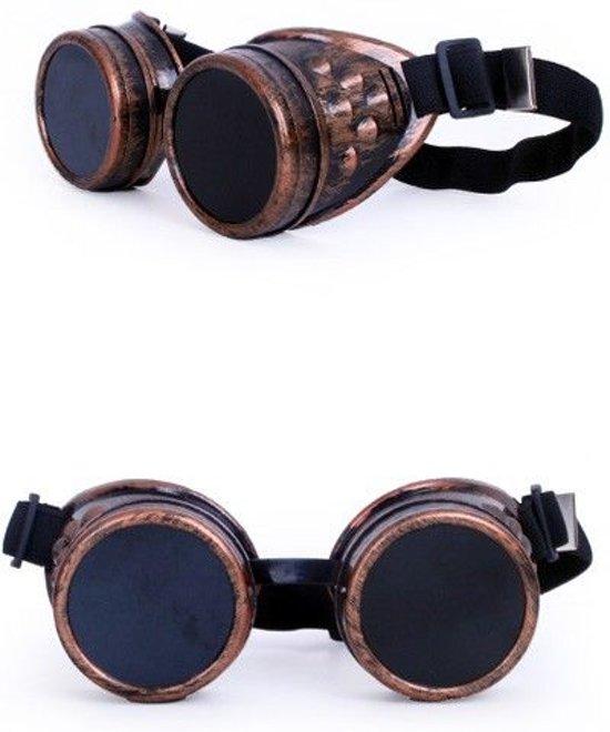 Steampunk bril koper kleurig