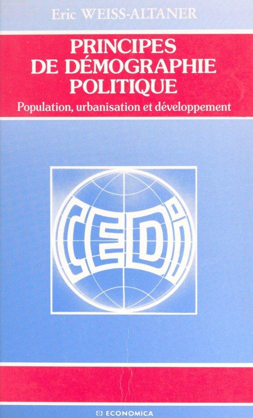 Principes de démographie politique : population, urbanisation et développement