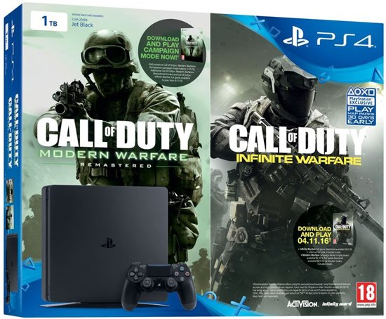 Sony Playstation 4 Slim 1TB CoD: Modern Warfare USK 18