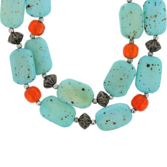 Ketting met turquoise natuurstenen