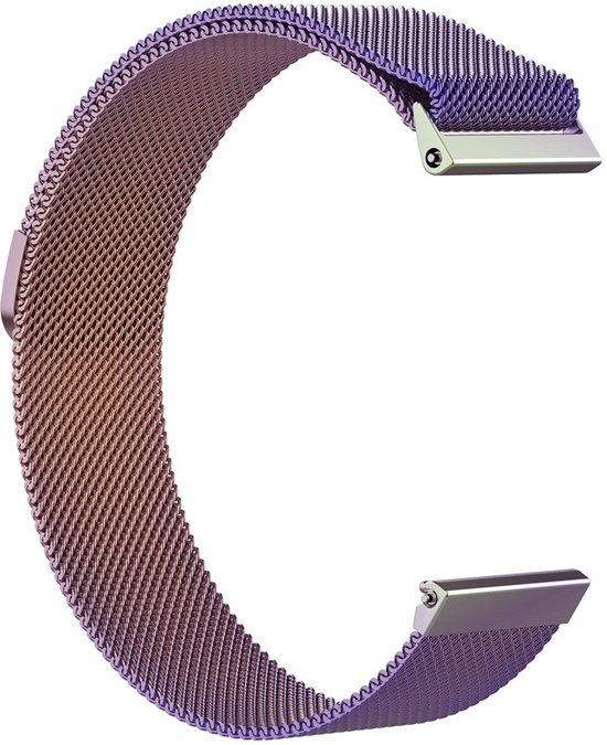 KELERINO. Milanees bandje voor Fitbit Versa (Lite) - Magneetsluiting - Regenboog