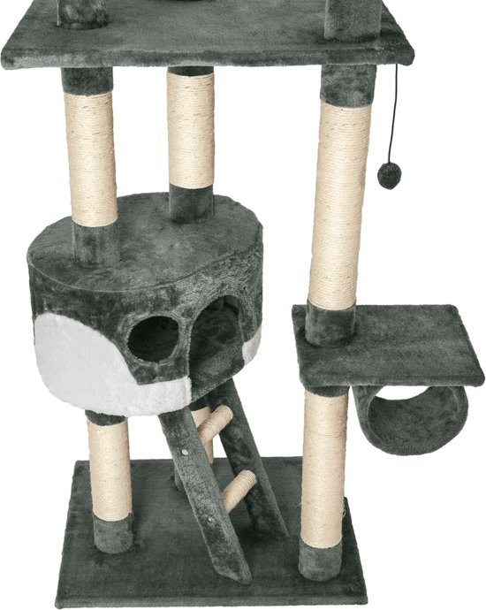 TecTake 401640 Krabpaal - Grijs/wit - 260 cm