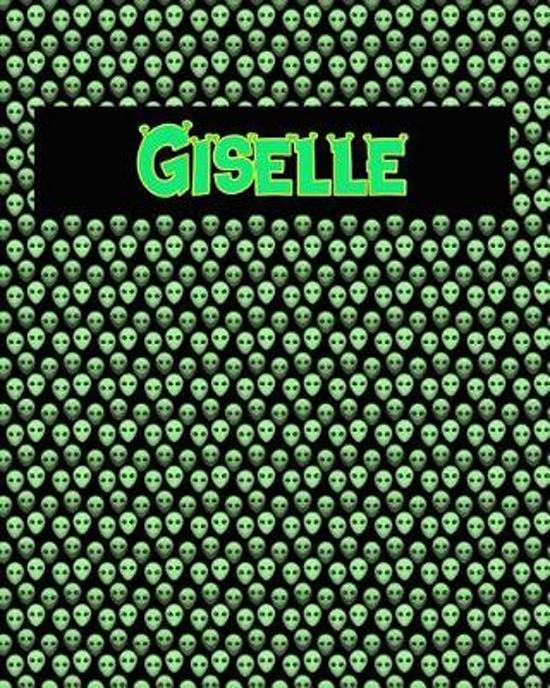 120 Page Handwriting Practice Book with Green Alien Cover Giselle