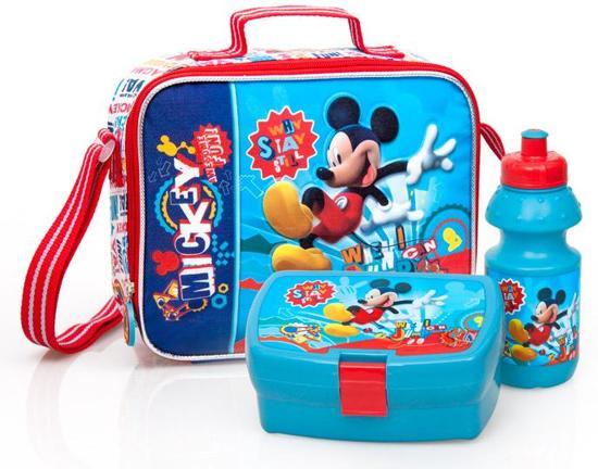 Mickey Mouse Cooler - Schoudertas + Drinkbeker & Broodtrommel - Kinderen - Blauw