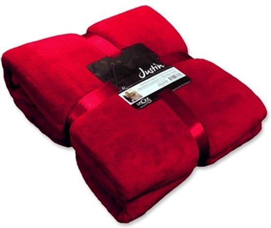 Unique Living Justin - Fleece - 150x200 cm - Red