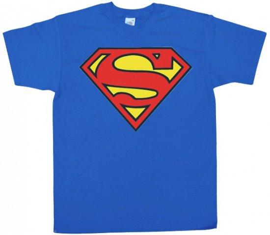 Superman logo t-shirt heren L