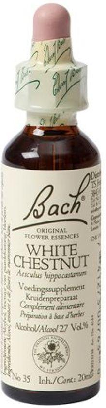 White Chestnut/Paardekast Bach - 20 ml - Voedingssupplement