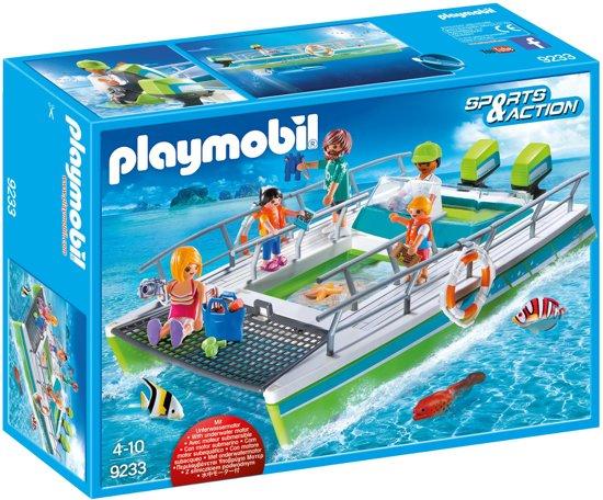 PLAYMOBIL Glasboot met onderwatermotor  - 9233