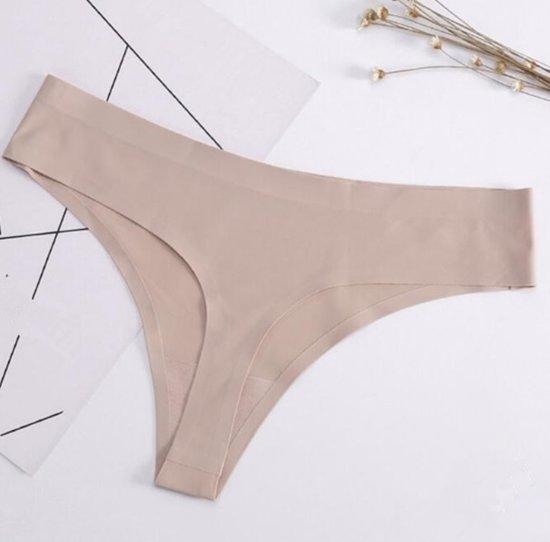 Naadloze string huidskleur - string zonder naad - maat S/M - Tibri
