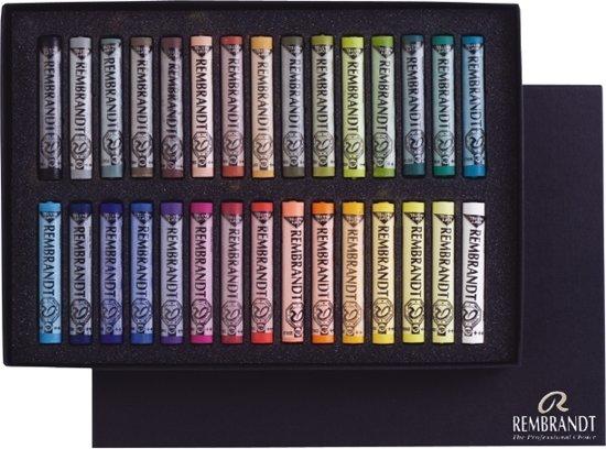 Rembrandt Soft pastel set heel 30 kleuren softpastels pastelkrijt