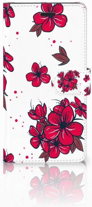 Samsung Galaxy A7 2017 Boekhoesje Design Blossom Red