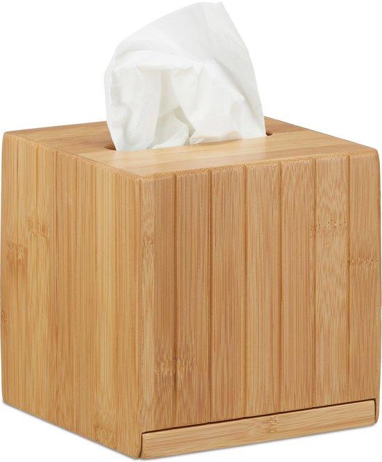 Favoriete bol.com   relaxdays tissue box vierkant - zakdoekjes houder van #FY81