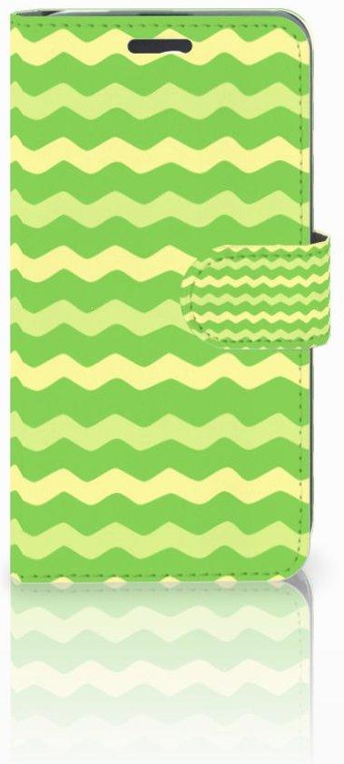 Acer Liquid Z520 Boekhoesje Design Waves Green