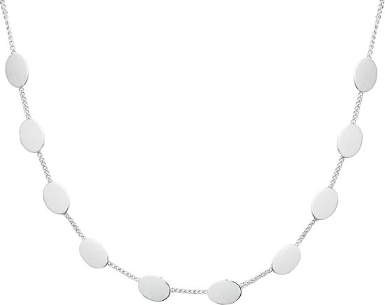 The Fashion Jewelry Collection Choker Strak 1,4 mm 31 + 9,5 cm - Zilver Gerhodineerd