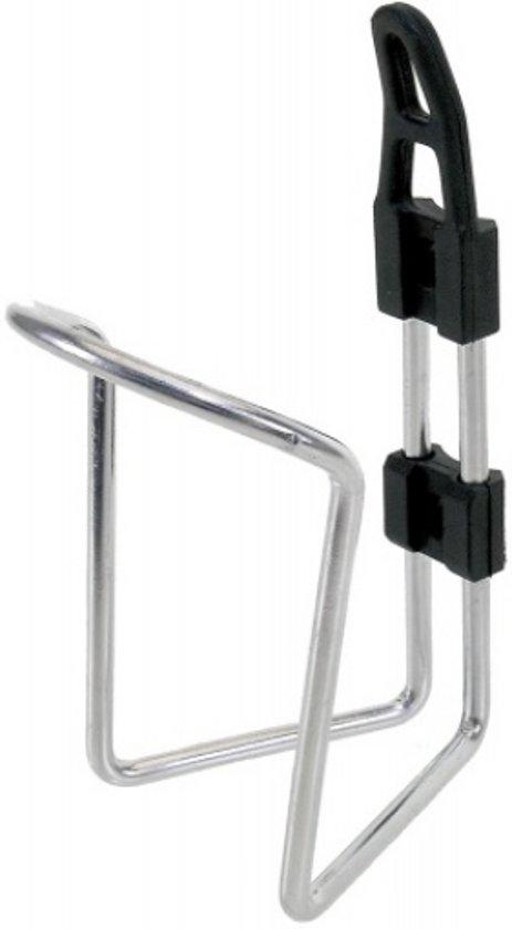 M-wave Bidonhouder Aluminium Plastic 5mm Zilver