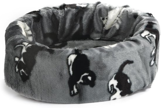 Beeztees - Kattenmand - Poesprint - Grijs - Diam. 40 cm