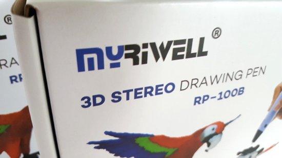 STARTERPACK - MyRiwell Advanced met LCD voor ABS/PLA - BLAUW - Incl startpakket HQ 120m PLA filament en gratis 3D drawing pad (hittebestendig en transparant)