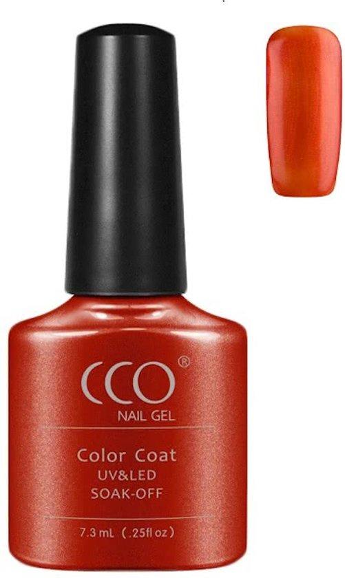 CCO Shellac-Fine Vermillion-Oranje-Roest-Gel Nagellak