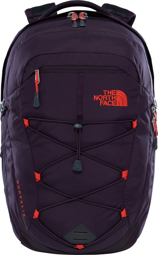 The North Face Women's Borealis Rugzak - Dames - Galaxy Purple/Fire Brick Red