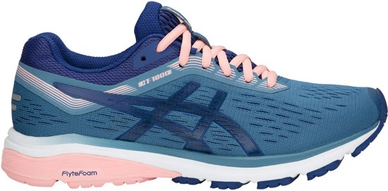 Asics GT-1000 7 Sportschoenen - Maat 39 - Vrouwen - blauw/donker blauw/roze