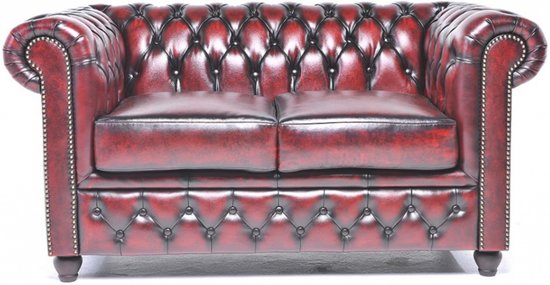 Chesterfield Original Brighton 1+2+3-zits Antiek Rood