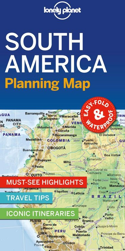 Lonely planet: south america planning map (1st ed)