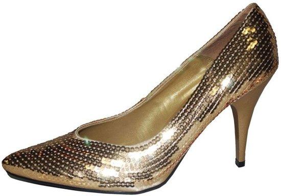 Gouden pumps met pailletten 40-41