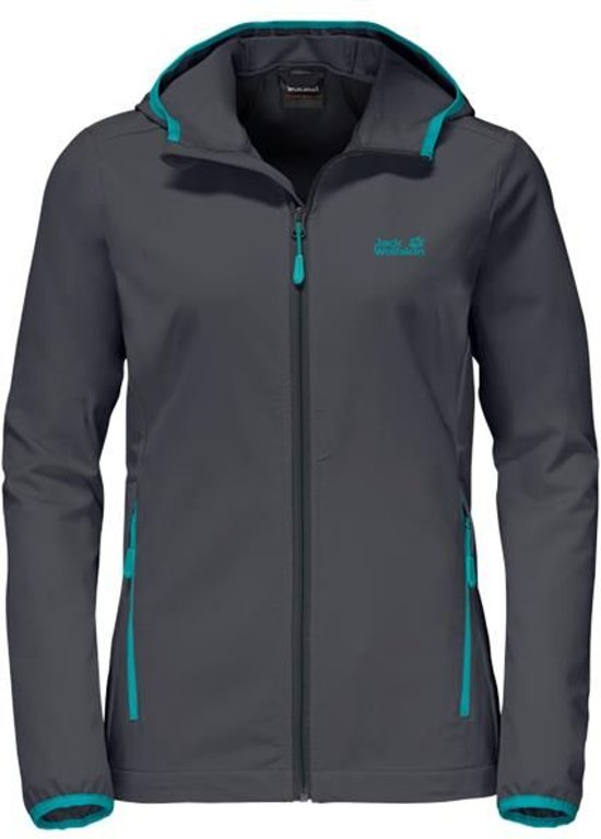 Dames Jacket Ebony Turbulence Women Jack softshell Wolfskin I7UPRx