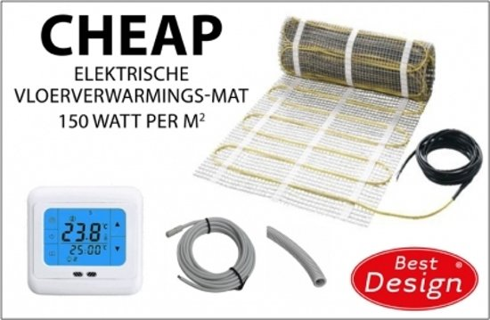 Best Design Cheap elektrische vloerverwarming 3.0m2