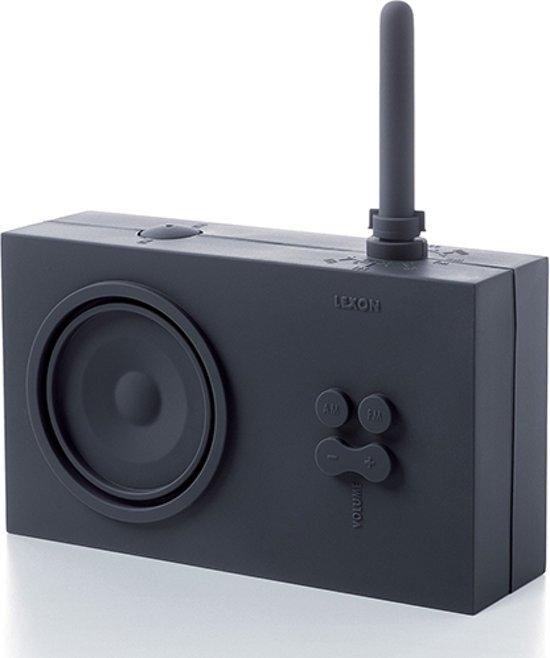 bol.com | Badkamer radio design Tykho Lexon donkergrijs