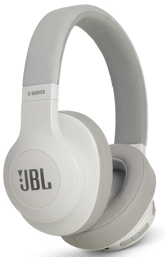 JBL E55BT - Draadloze over-ear koptelefoon - Wit