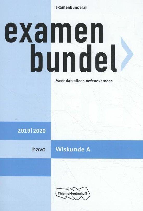 Boek cover Examenbundel havo wiskunde A 2019/2020 van N.C. Keemink (Paperback)
