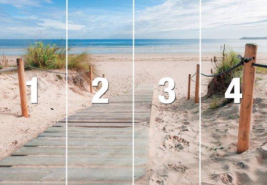 Fotobehang Strand en Zee - 254x368 cm (hxb) - 4 rollen behang