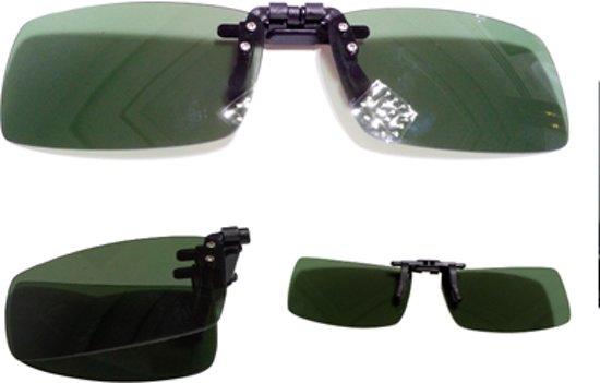 51ca9091602bc4 Opvouwbare Clip On Voorzet Zonnebril - Voorhanger Opzet Zonnebril  Gepolariseerd