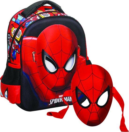31 Masker Rood Met Kinderen Spiderman Cm Rugzak Hoog zwart IwCxpqS