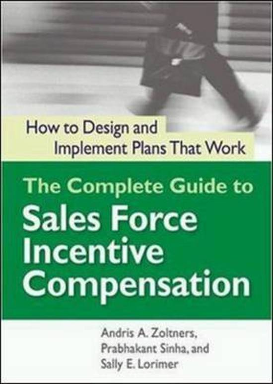 the complete guide to sales force incentive compensation pdf