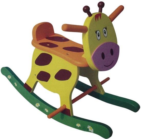 Houten Hobbelfiguur Giraffe