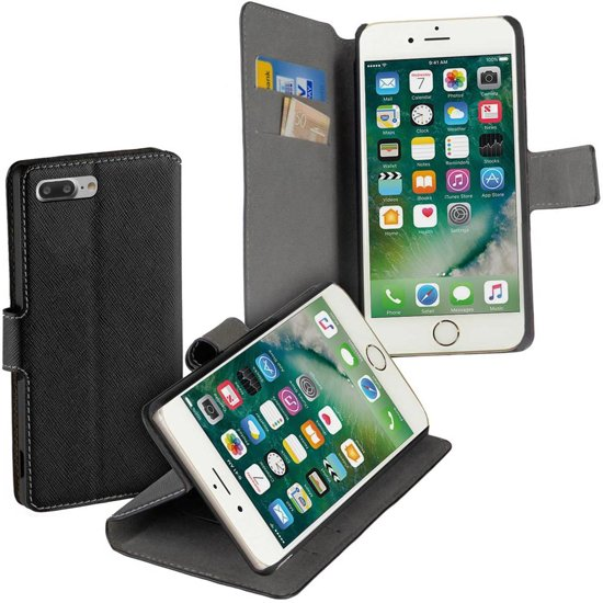 MP Case Zwart iPhone 6 6s Bookcase Flip Cover Wallet Hoesje in Stevensweert