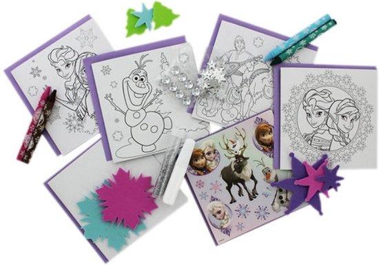 Bolcom Disney Forzen Kaarten Maken Frozen Kleuren En Knutselen