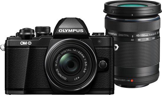 Olympus OM-D E-M10 Mark II Zwart + 14-42mm + 40-150mm