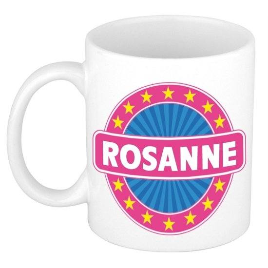 Rosanne naam koffie mok / beker 300 ml  - namen mokken