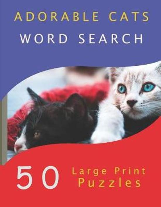 Adorable Cats Word Search